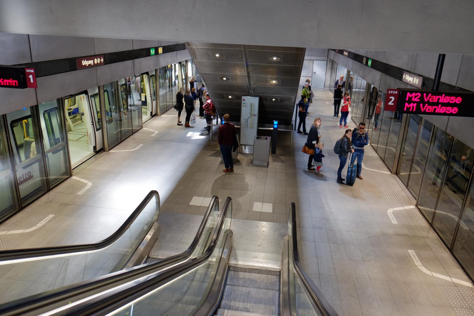 В метро Копенгагена