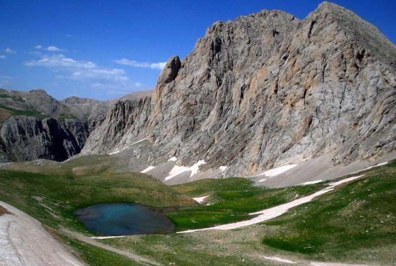 Горы в Турции на севере страны