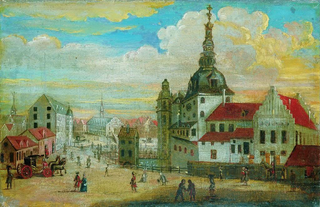 Дворец Кристиансборг в 1698 году