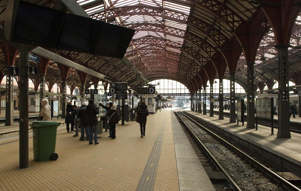 Железнодорожный вокзал в Копенгагене
