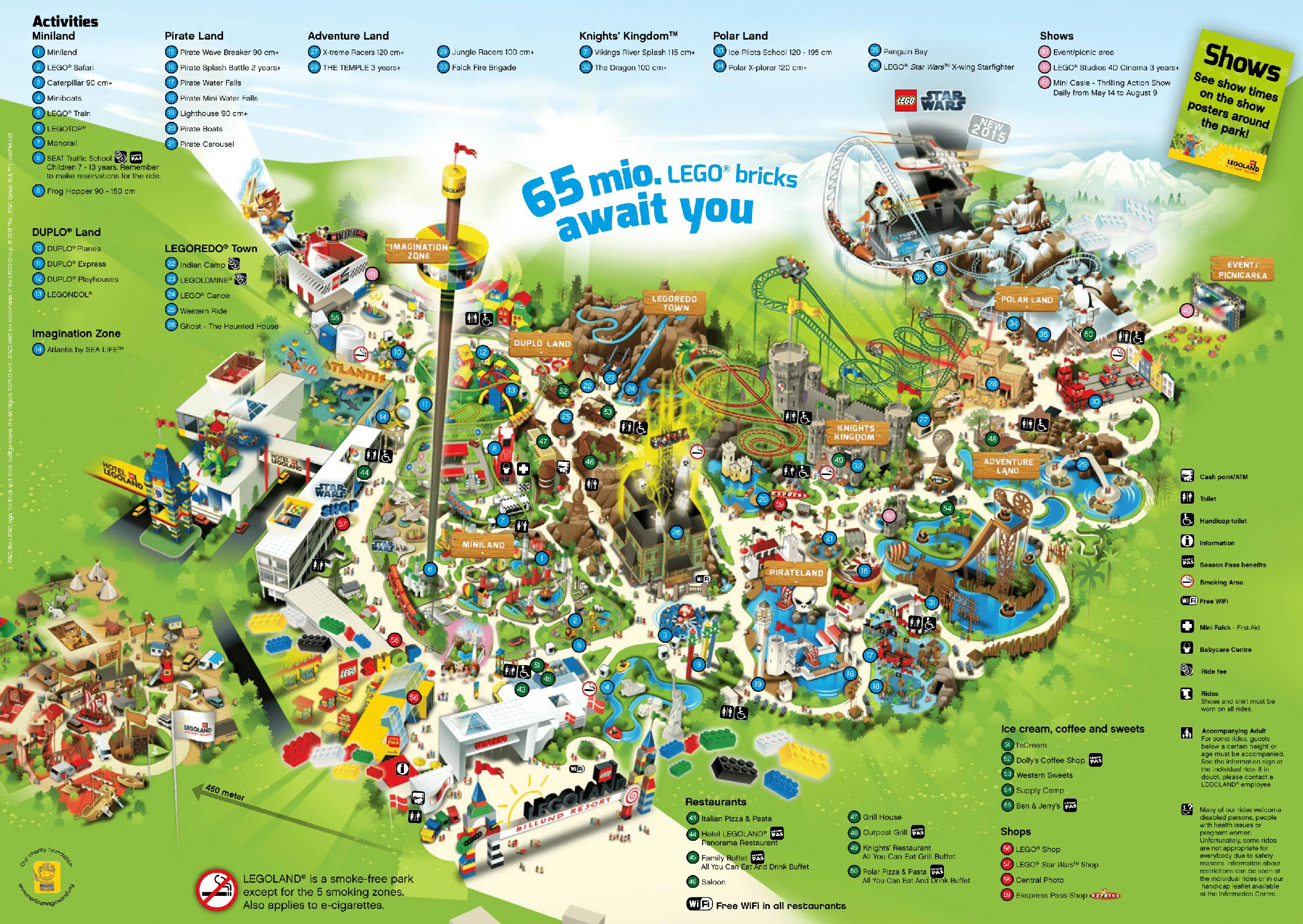 Карта парка Леголенд