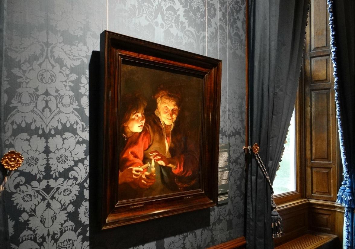 Картина Питера Пауль Рубенса - старушка и мальчик со свечами