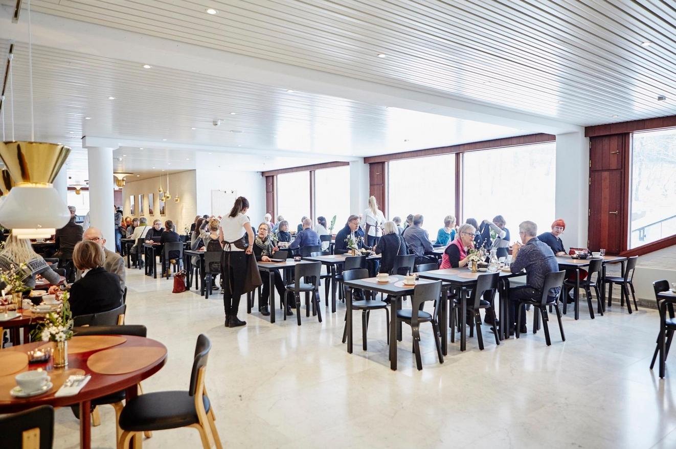 Кафе в музее современного искусства