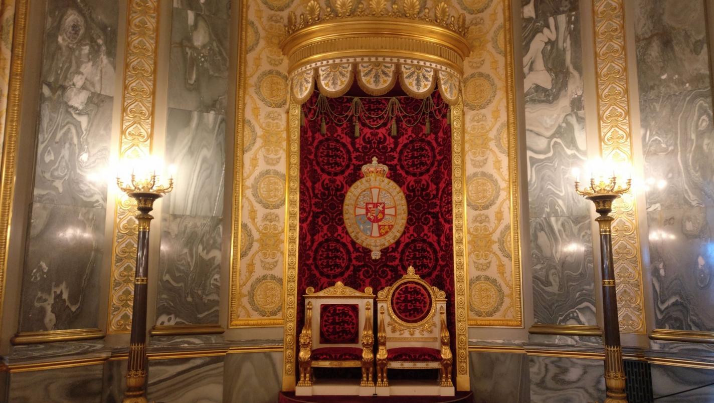 Королевский трон в Кристиансборгском дворце