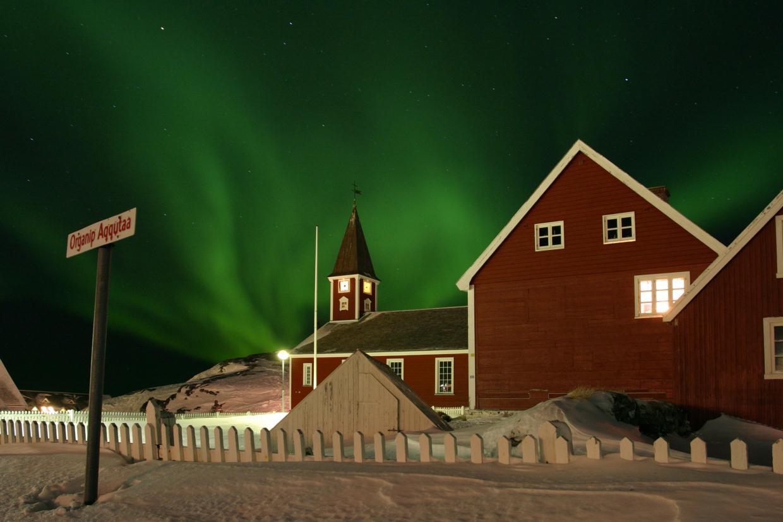 Ночной Нуук, Гренландия