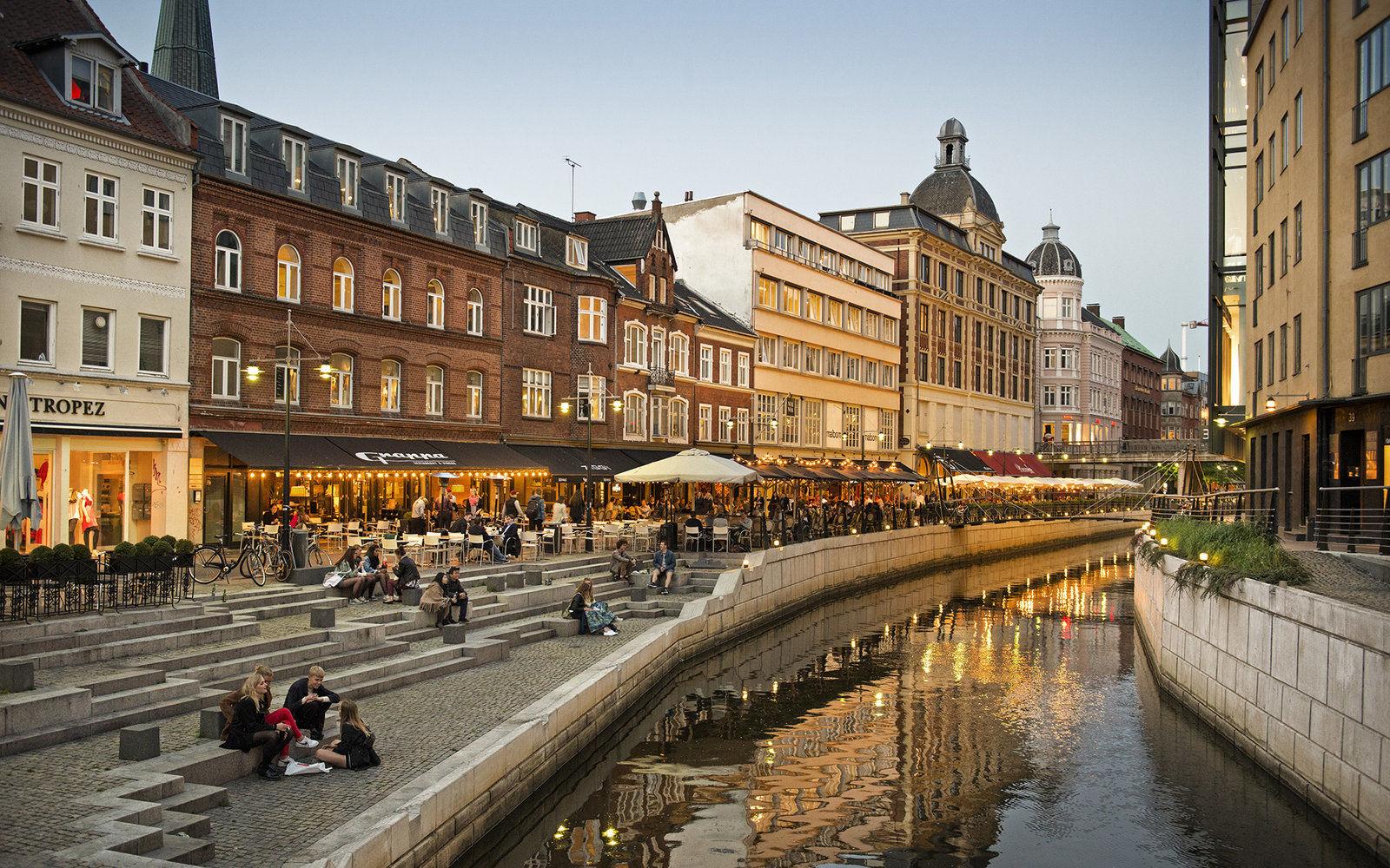 картинка фотография курорта Орхус в Дании