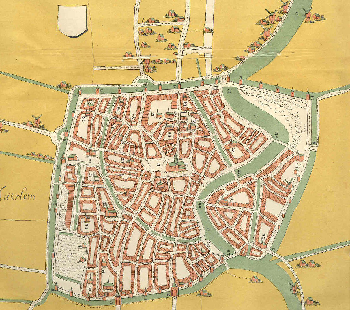 План города в 1550 году