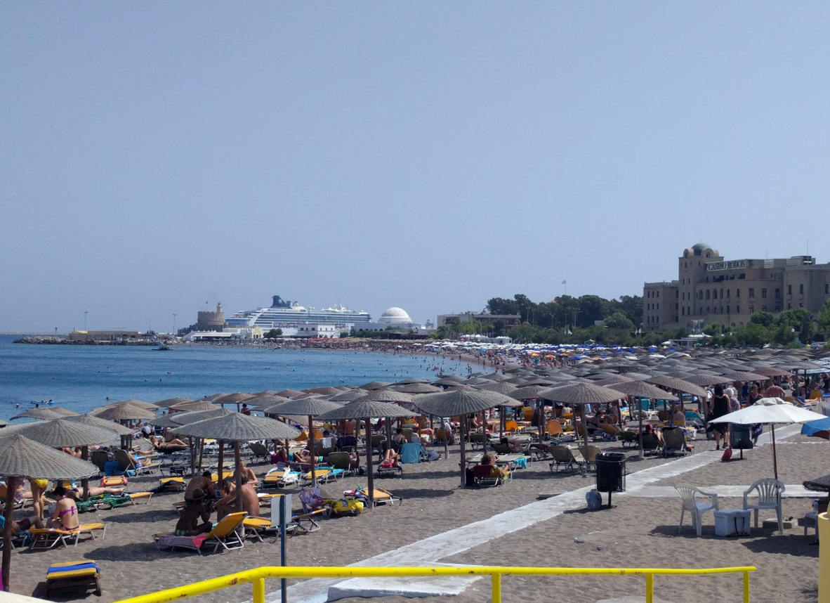 Пляж Элли, Родос