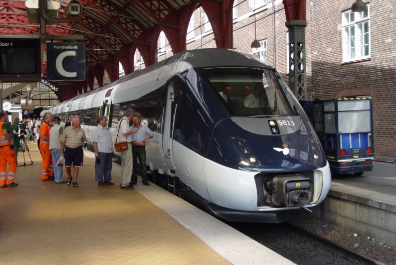 На железнодорожном вокзале в Копенгагене