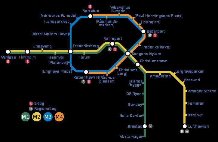 В 2018 году в метро Копенгагена добавятся синяя и оранжевая ветки