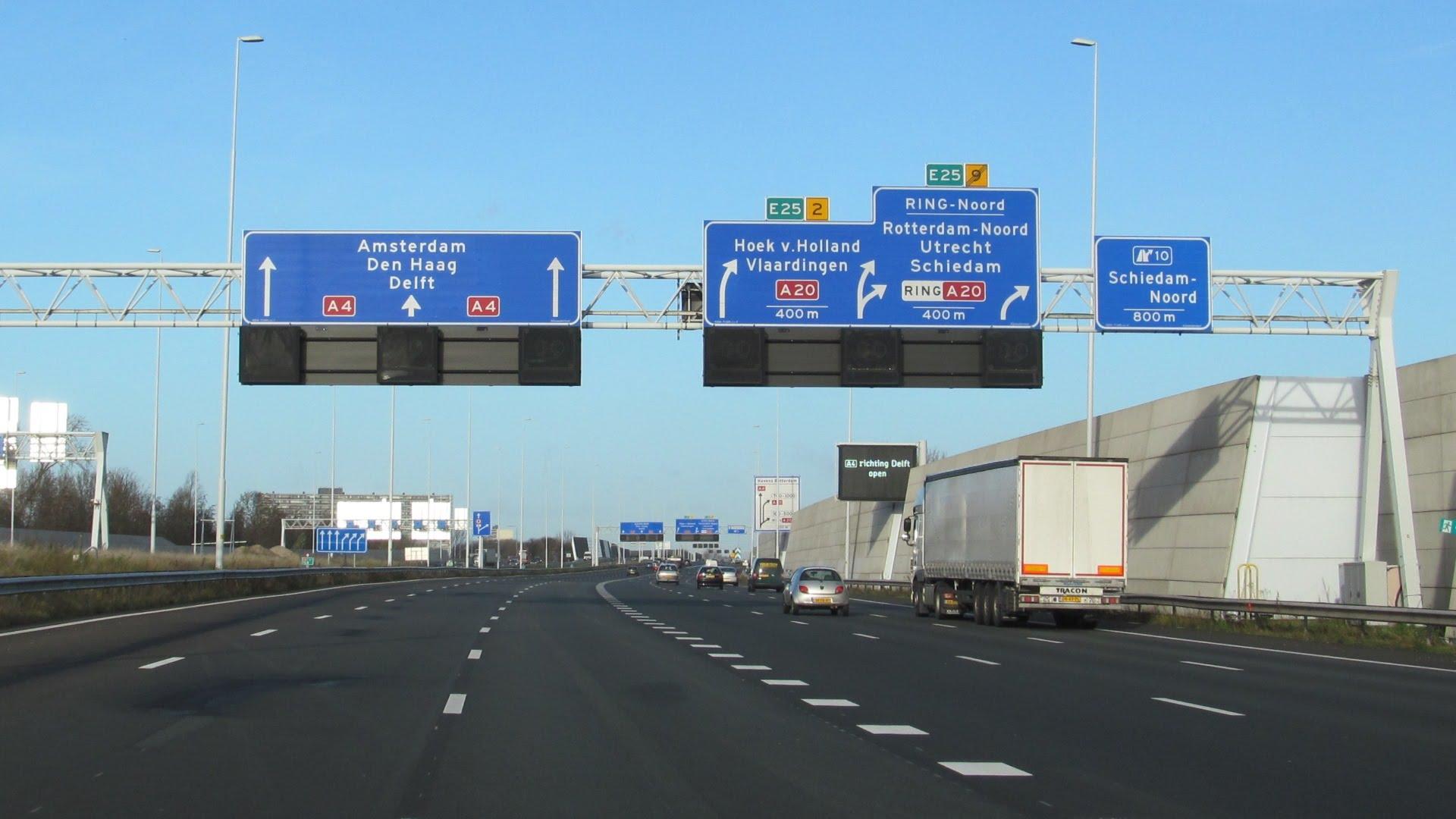 Трасса А-4 в Гаагу