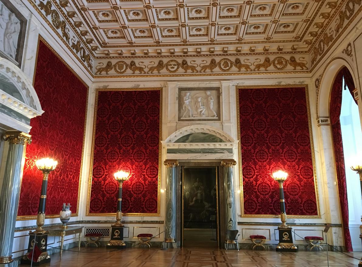 Тронный зал в дворце Кристиансборг