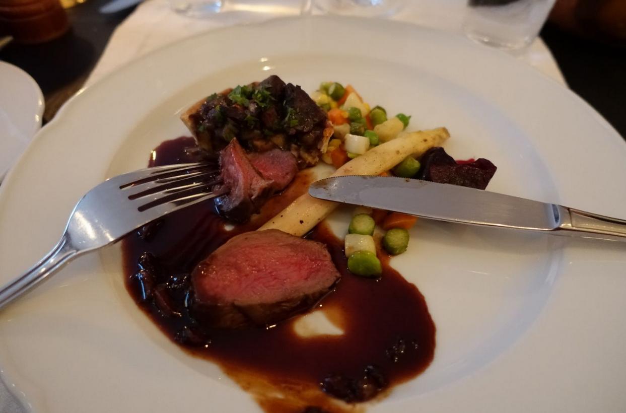 Ужин в ресторане Krebsegaarden