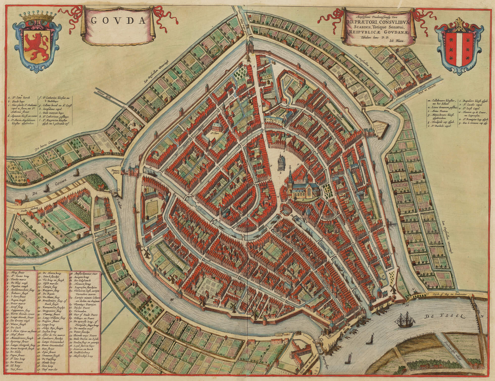Центр города Гауда в 1650 году