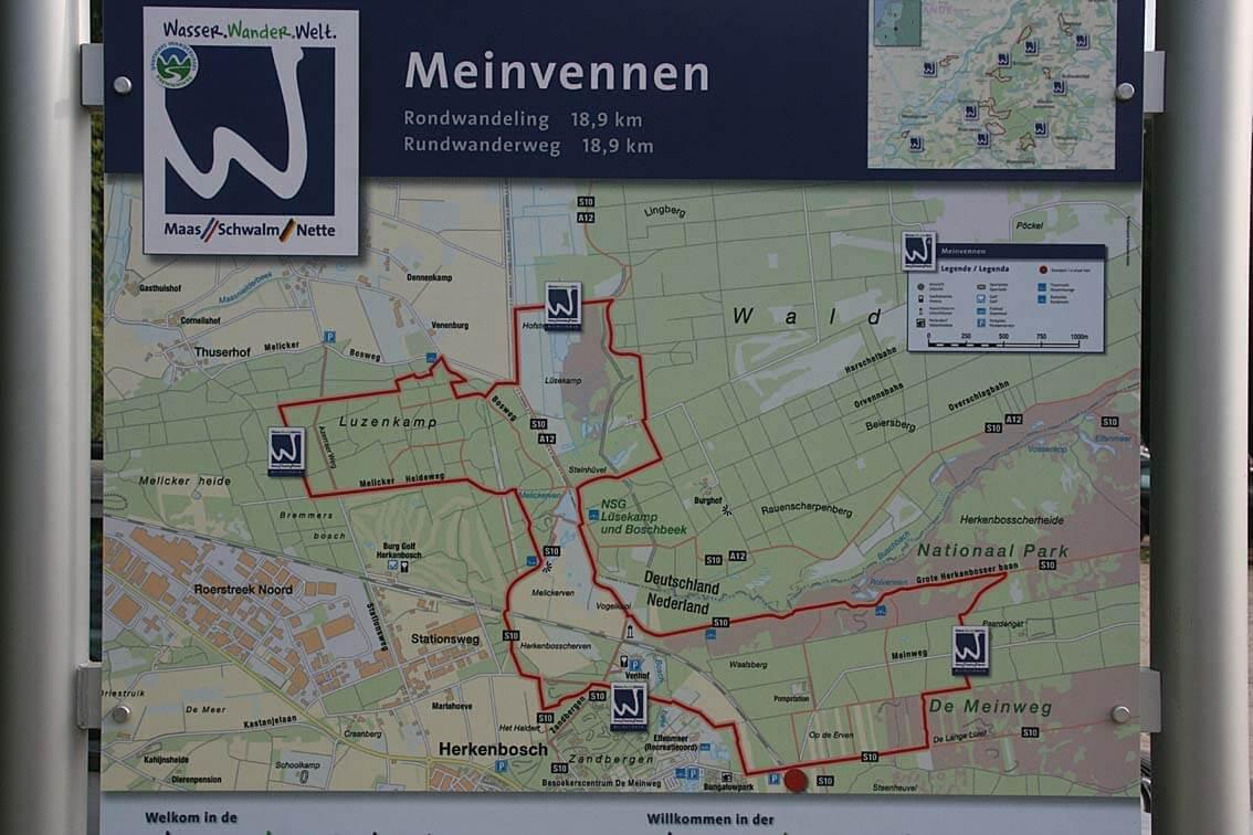 Карта парка National Park de Meinweg
