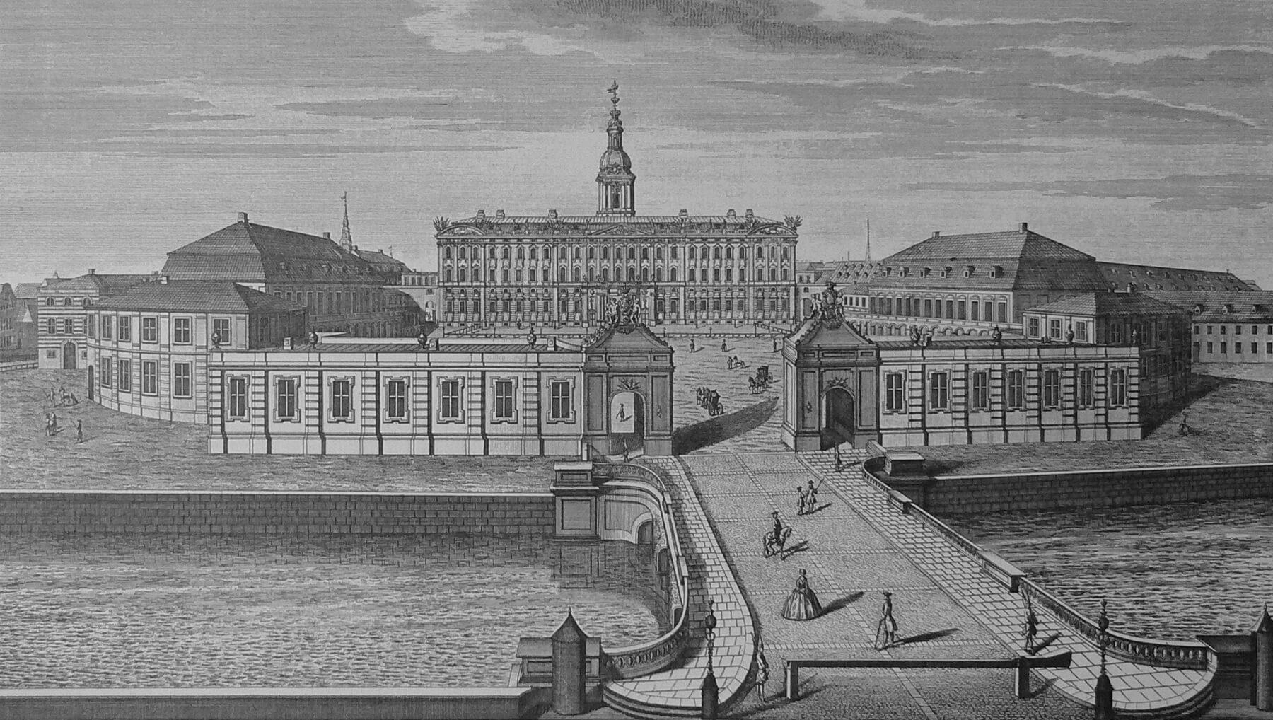 Дворец Кристиансборг в 1746 году