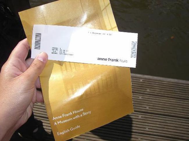 Билет в музей Анны Франк