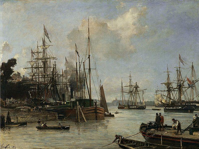 Вид на гавань, Роттердам 1856