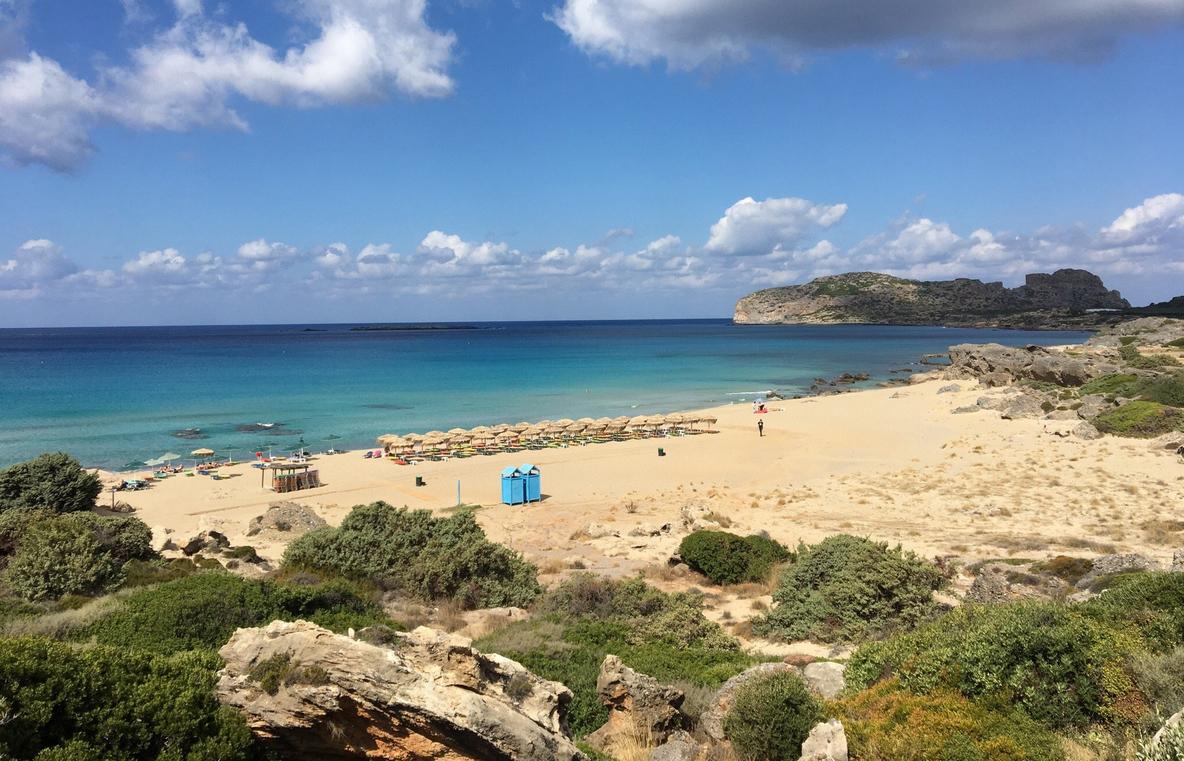 Вид на пляж Фласарна