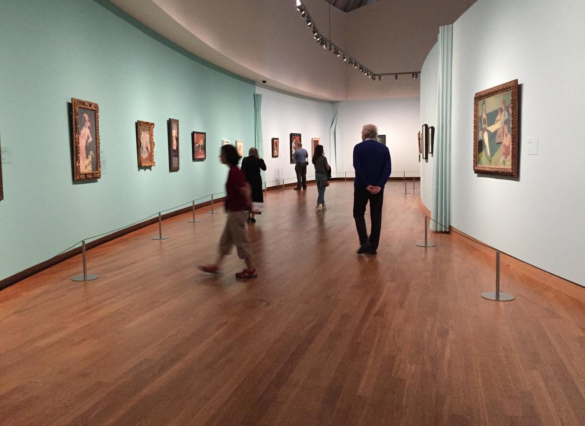 В музее Ван Гога в городе Амстердам