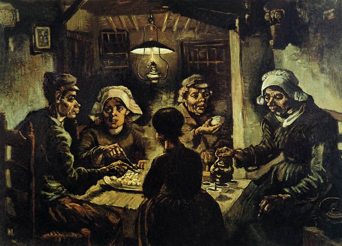 Едоки картофеля, Ван Гог