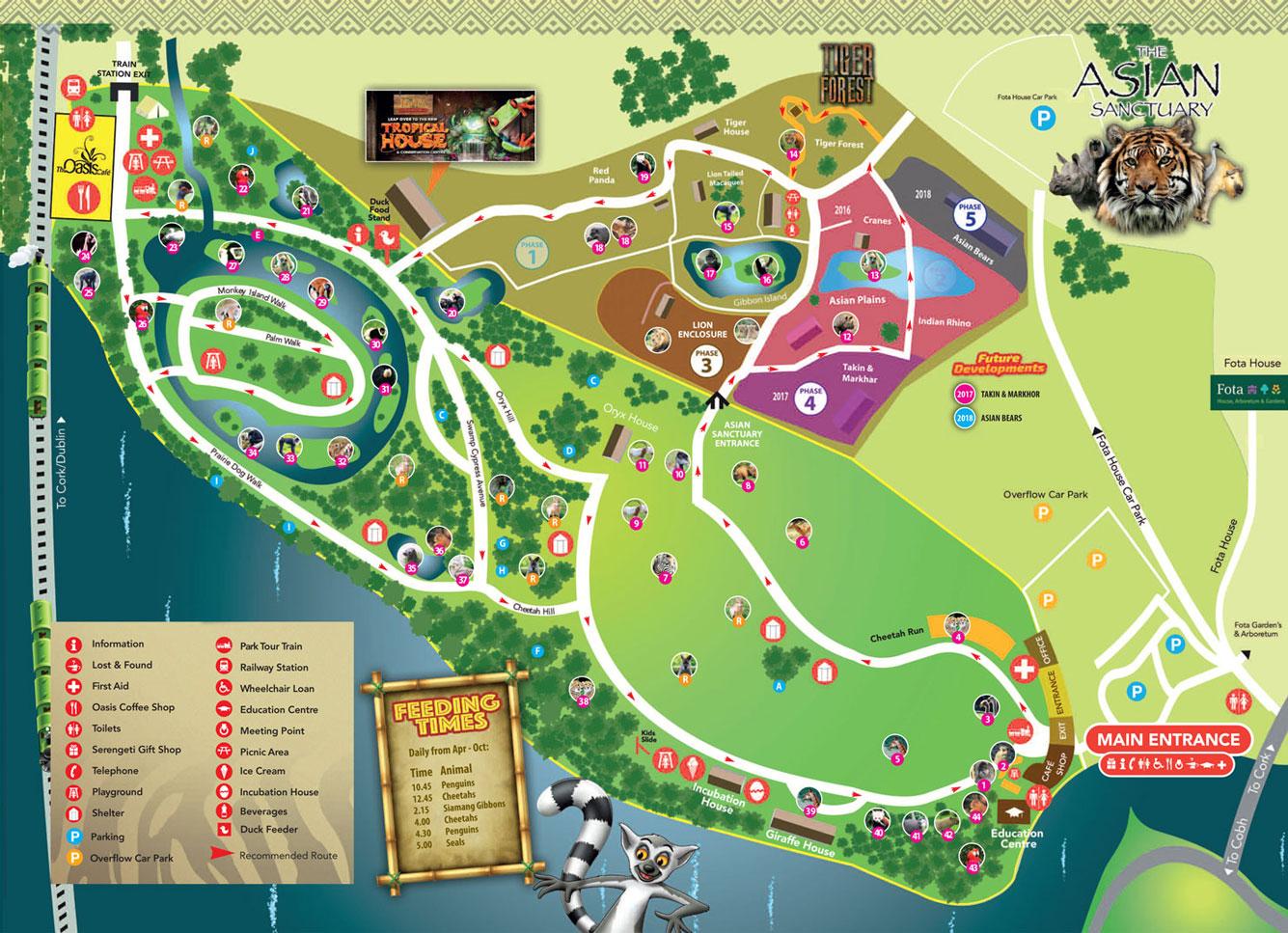 Карта парка дикой природы Фота
