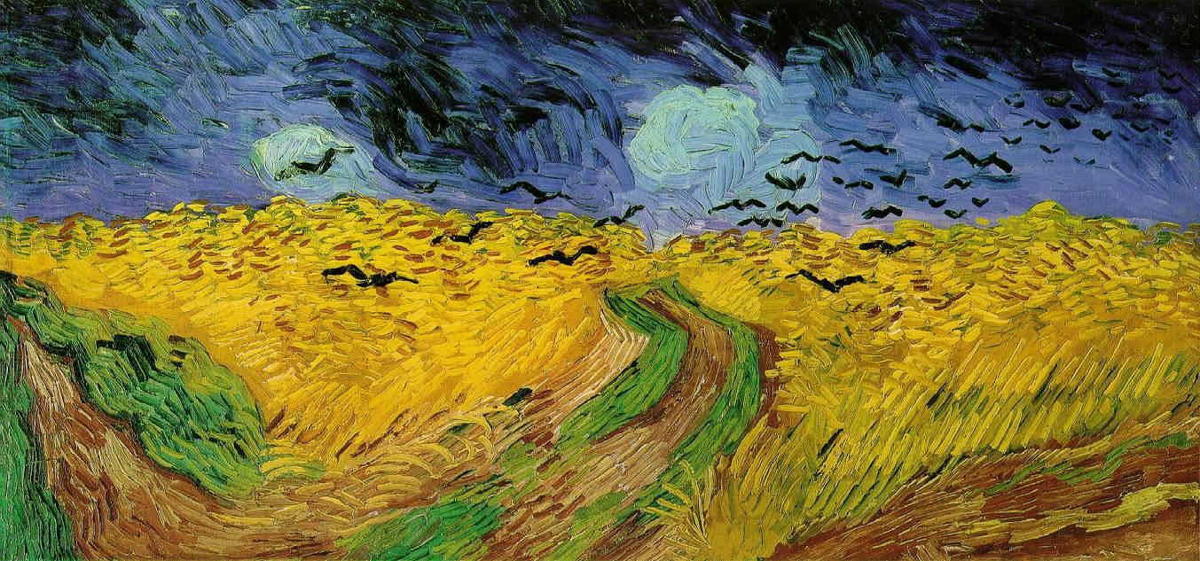 Картина «Пшеничное поле с воронами»