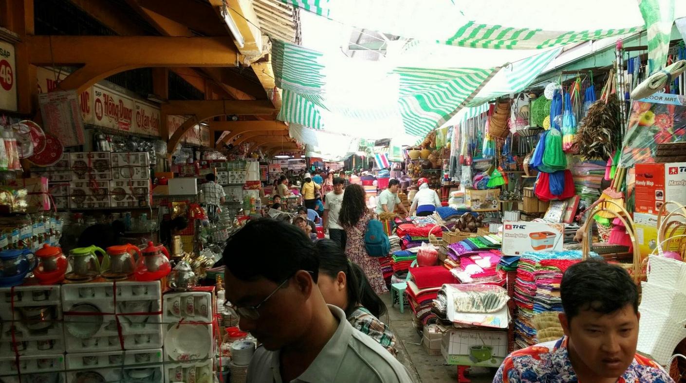 На рынке Бинь Тай