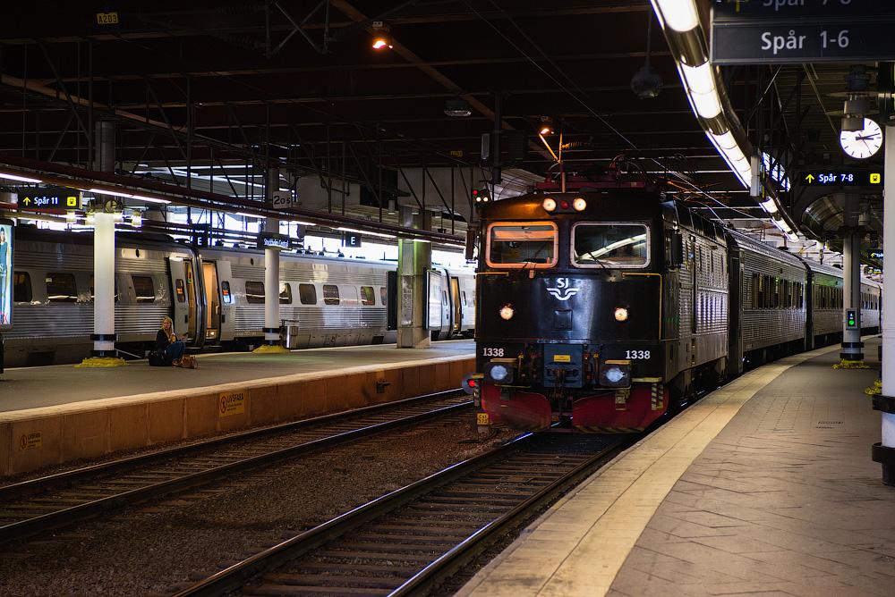 На центральном ж/д вокзале Стокгольма