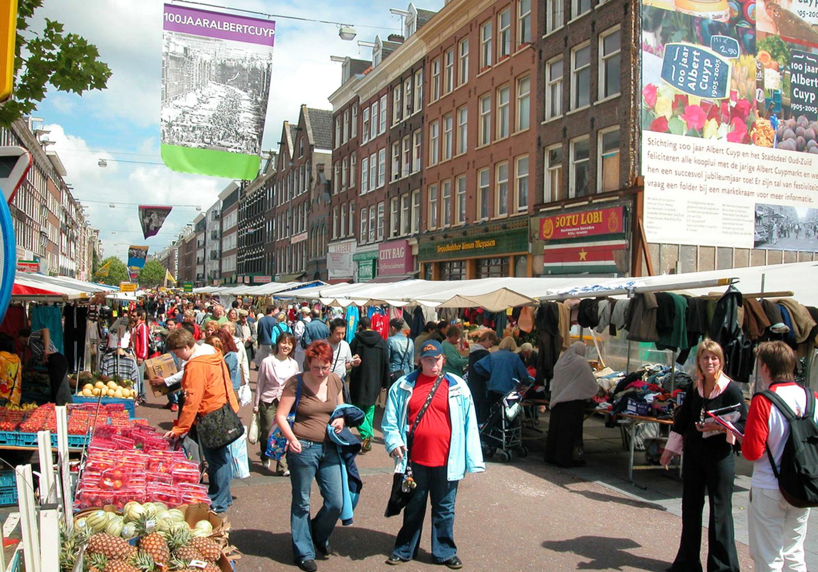 В De Pijp находится рынок Albert Cuyp