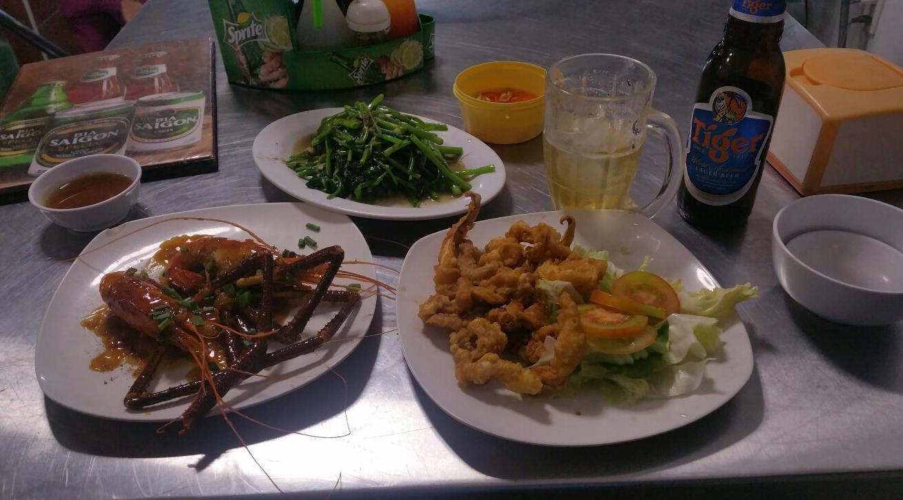 Ужин в рыбном ресторане
