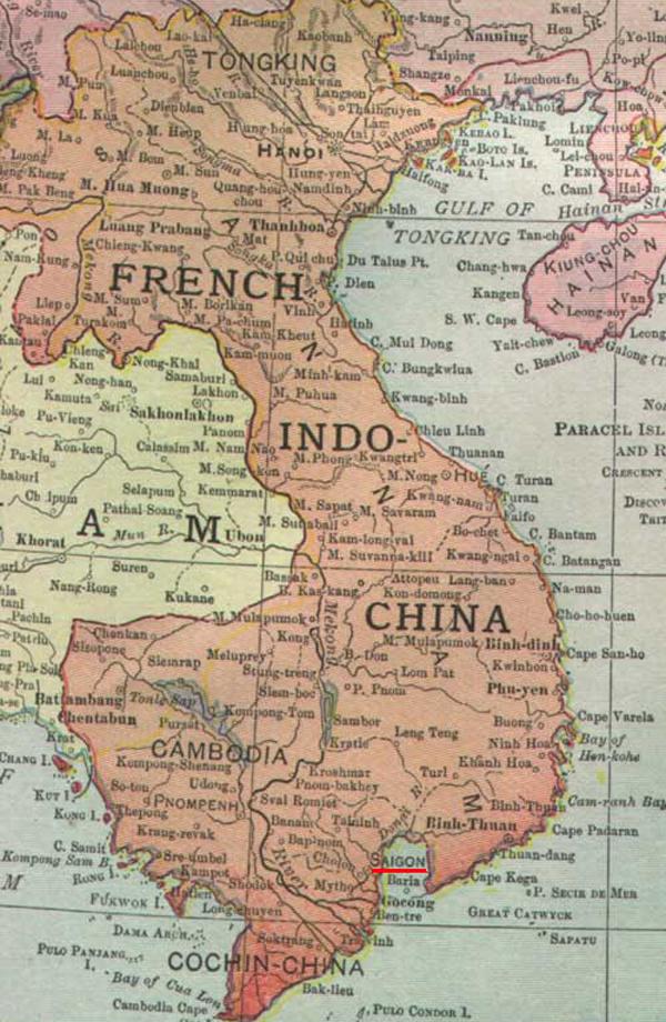 Французский Индокитай в 1913 году