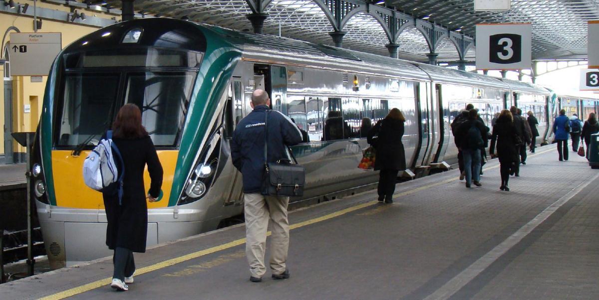 С железнодорожной станции Дублина в Лимерик
