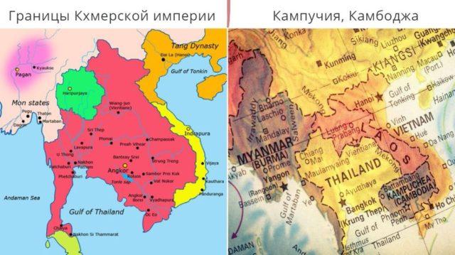 Карта Кхмерской империи