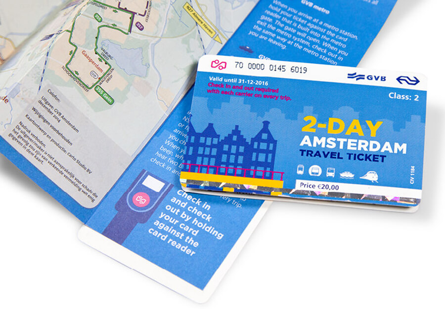 Amsterdam Travel Ticket на 2 дня