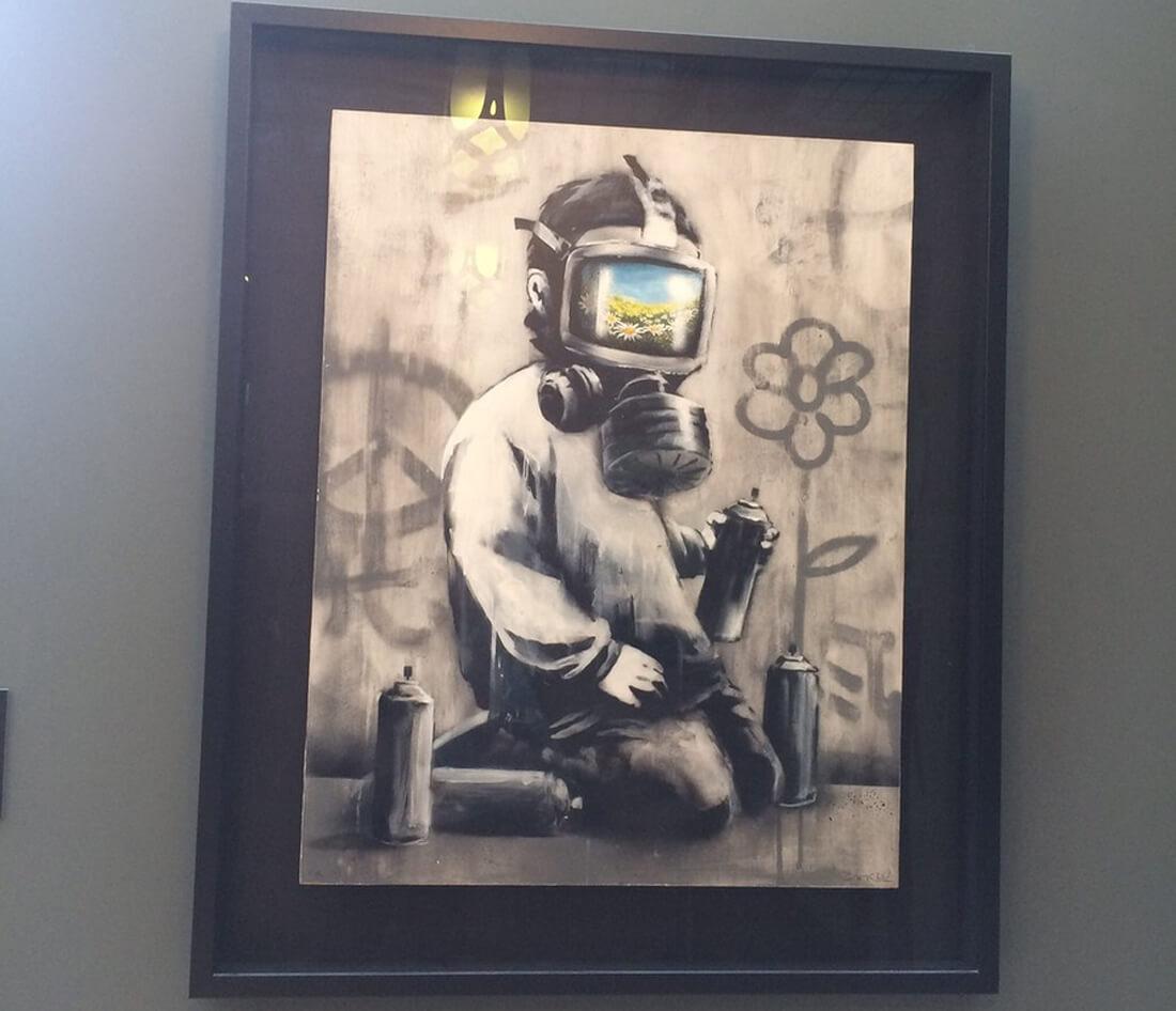 Картина в музее современного искусства Моко