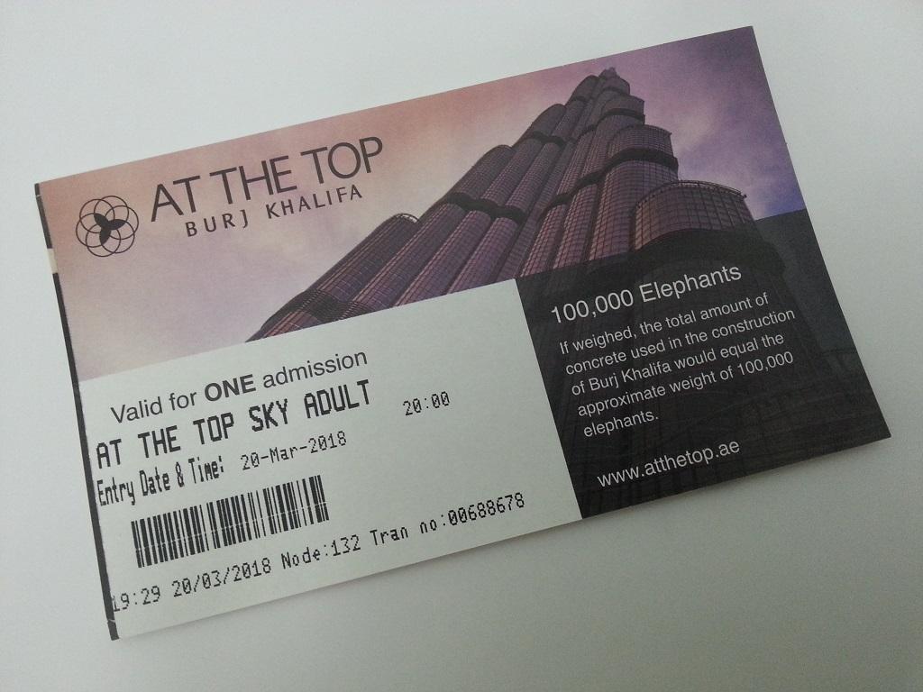 Билет на обзорную площадку AT THE TOP SKY
