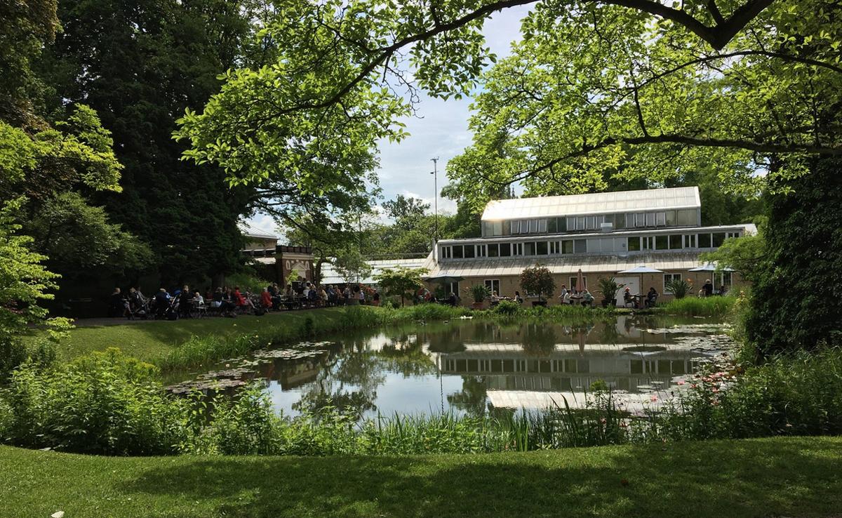 Кафе в ботаническом саду Лунда