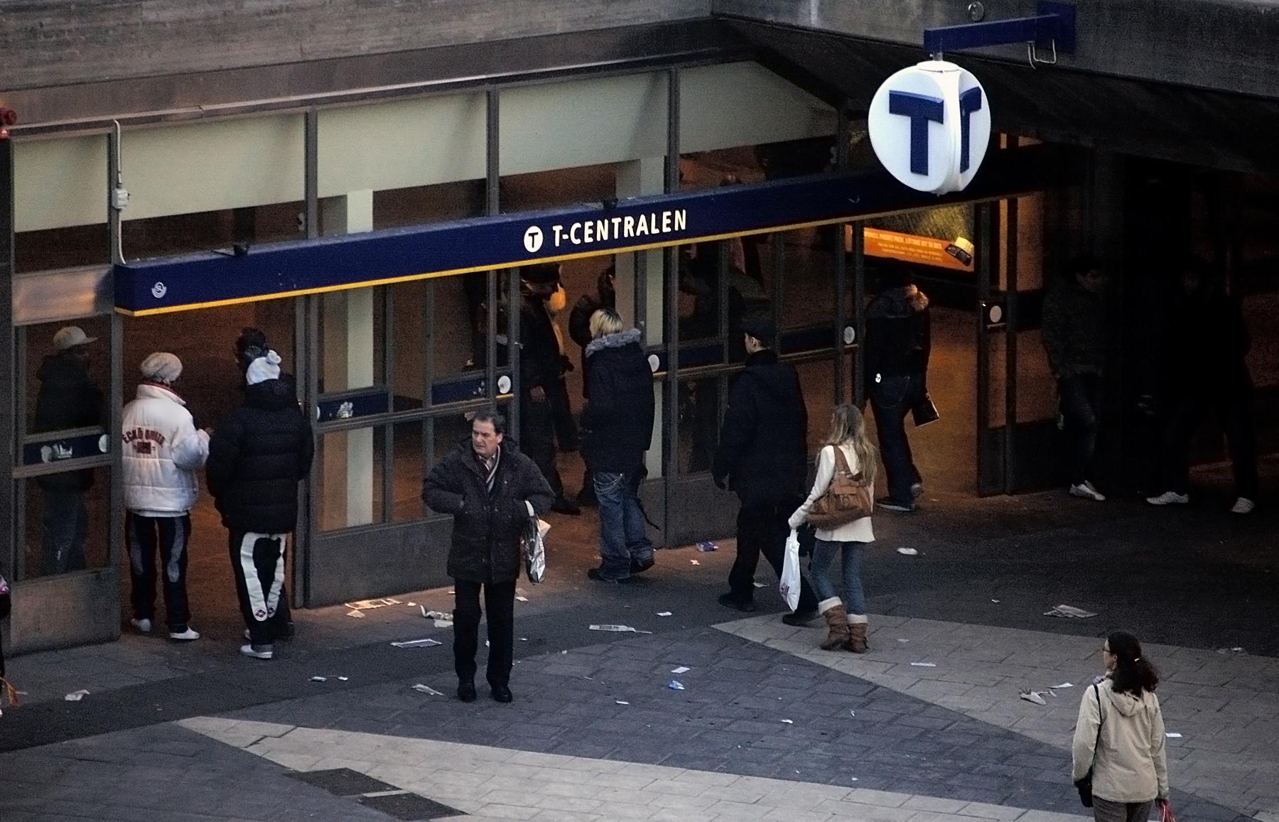 Вход на станцию метро T-centralen