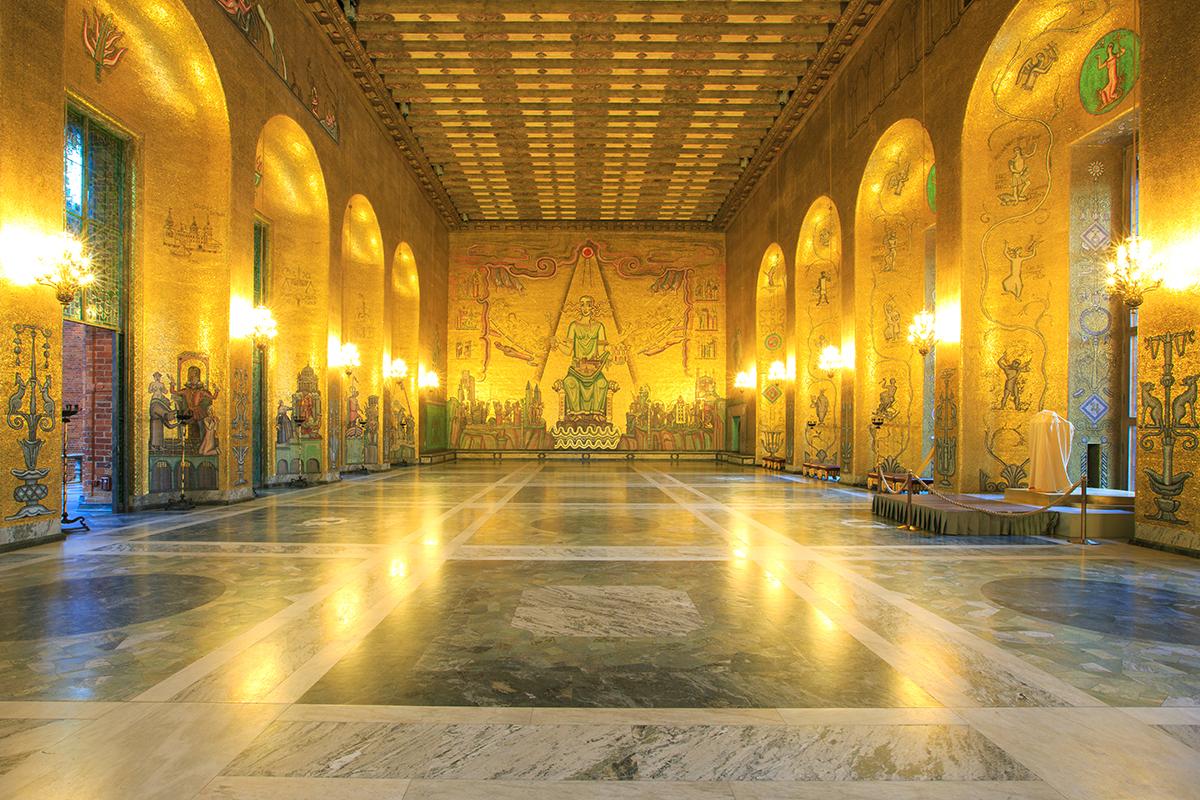 Золотой зал ратуши в Стокгольме