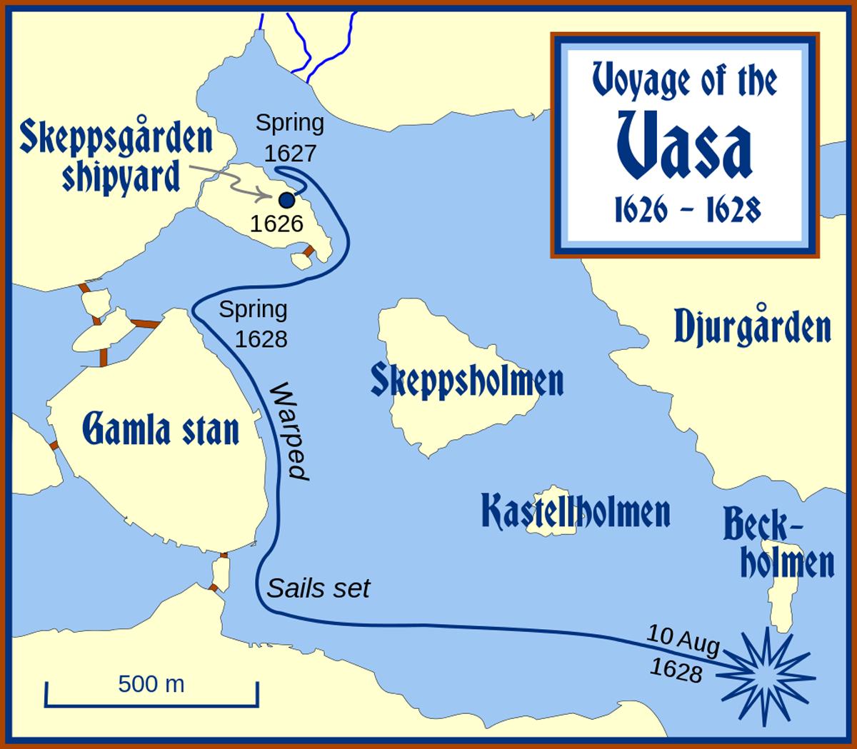 Место где затонул корабль Васа