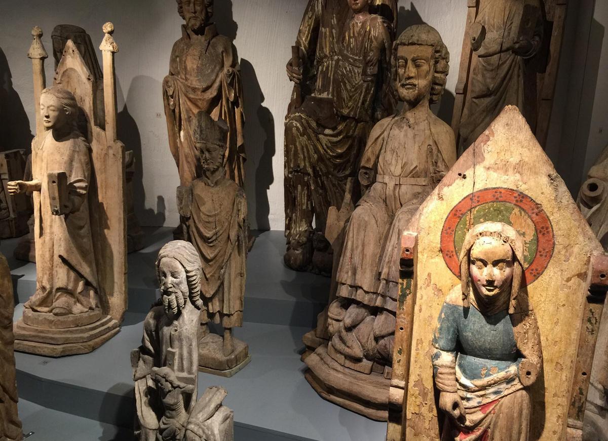 Экспонаты в музее Готландс
