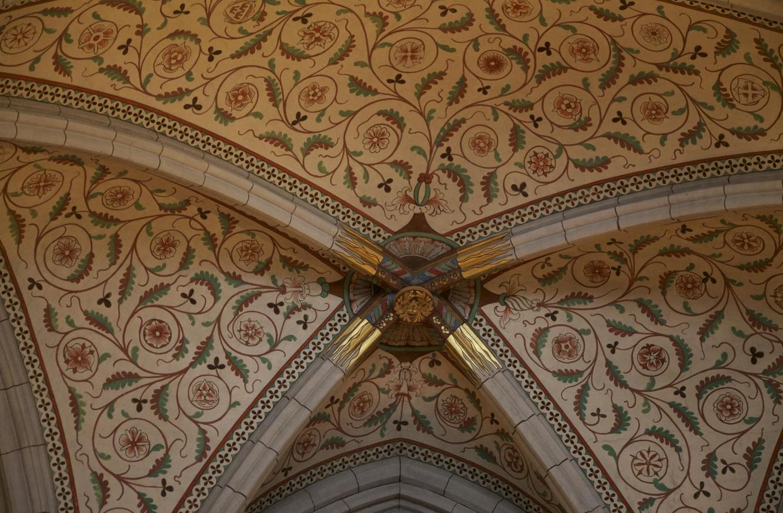 Потолок кафедрального собора Уппсалы