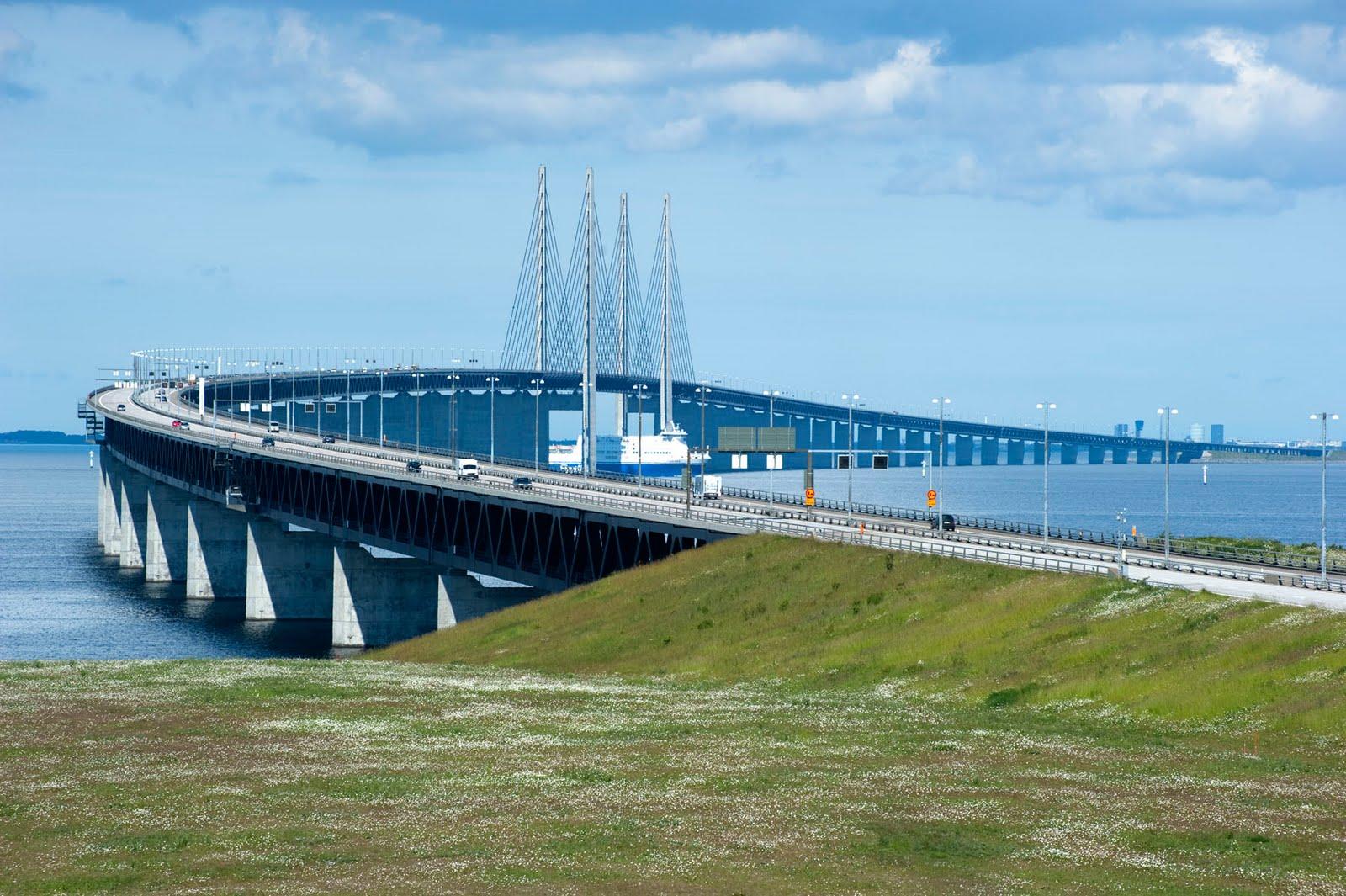 Эресуннский мост с шведской стороны