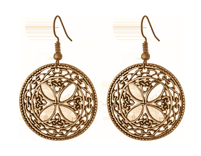 Серьги Кельтский крест