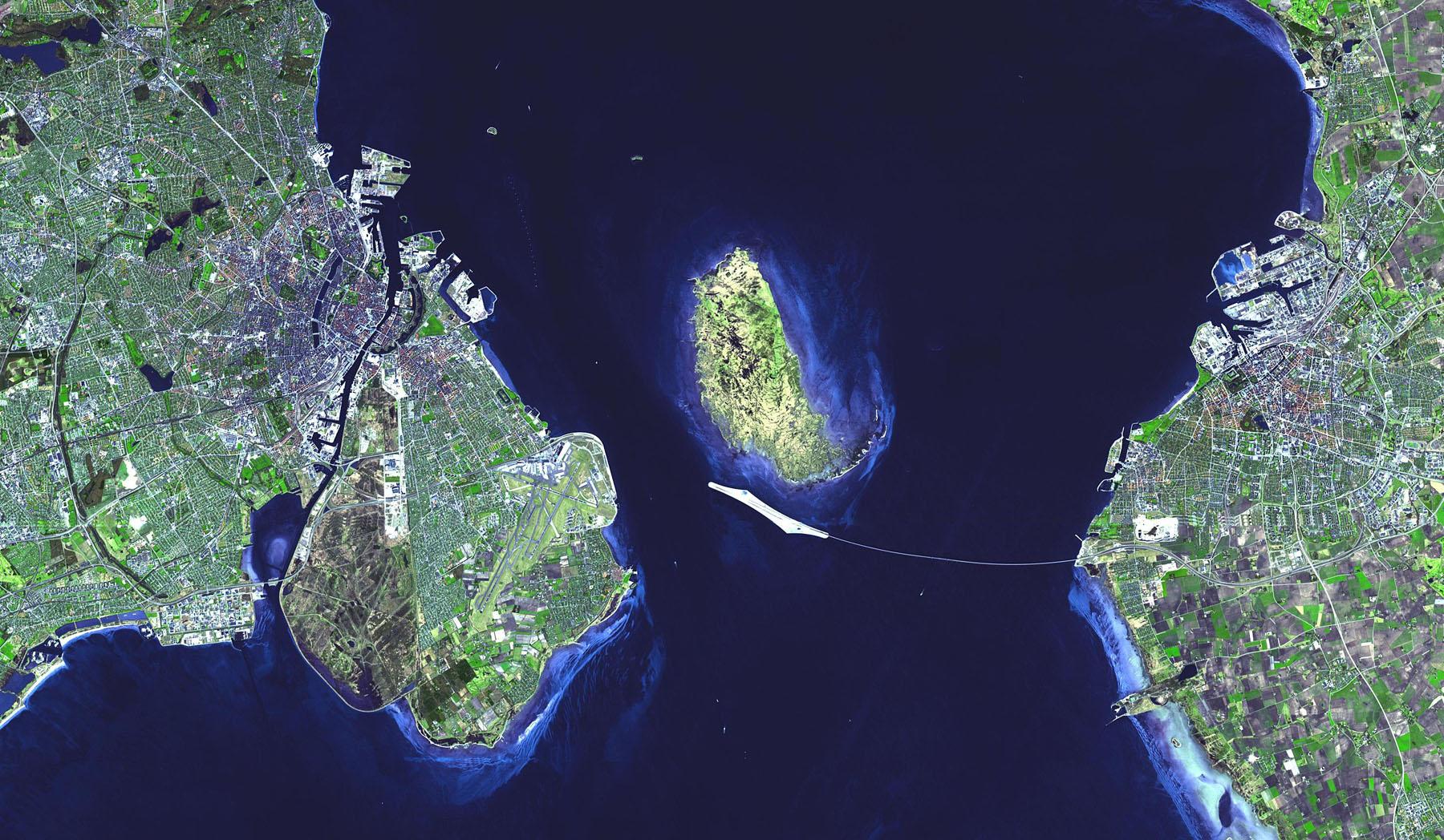 Снимок моста со спутника