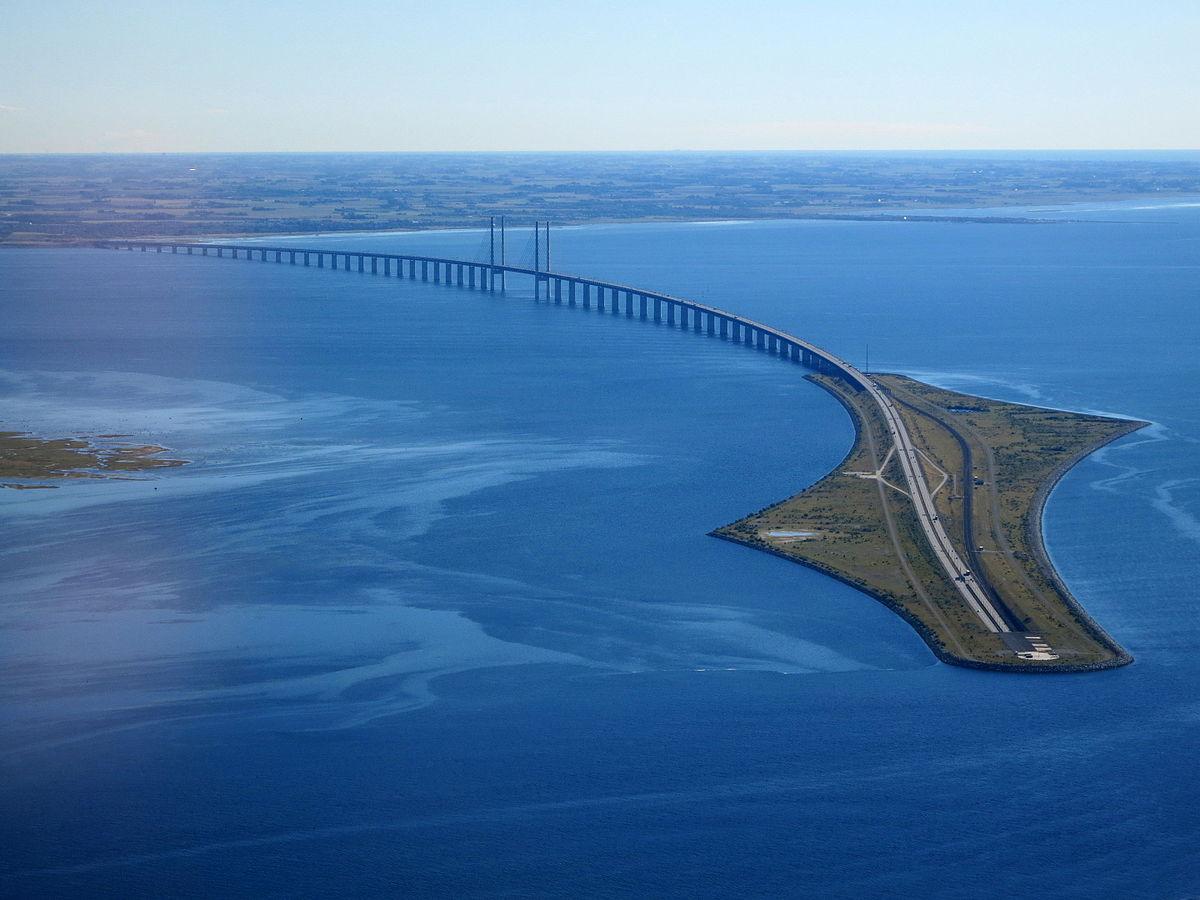 фото открытия моста швеция дания снимают основную оплетку