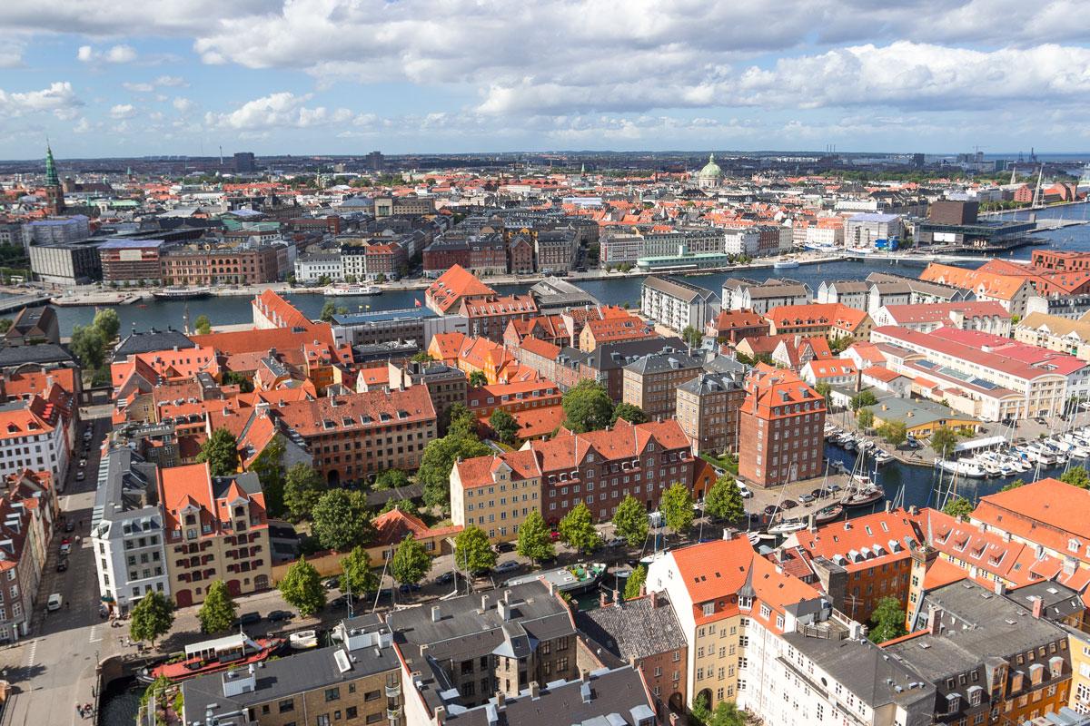 Вид на город Копенгаген