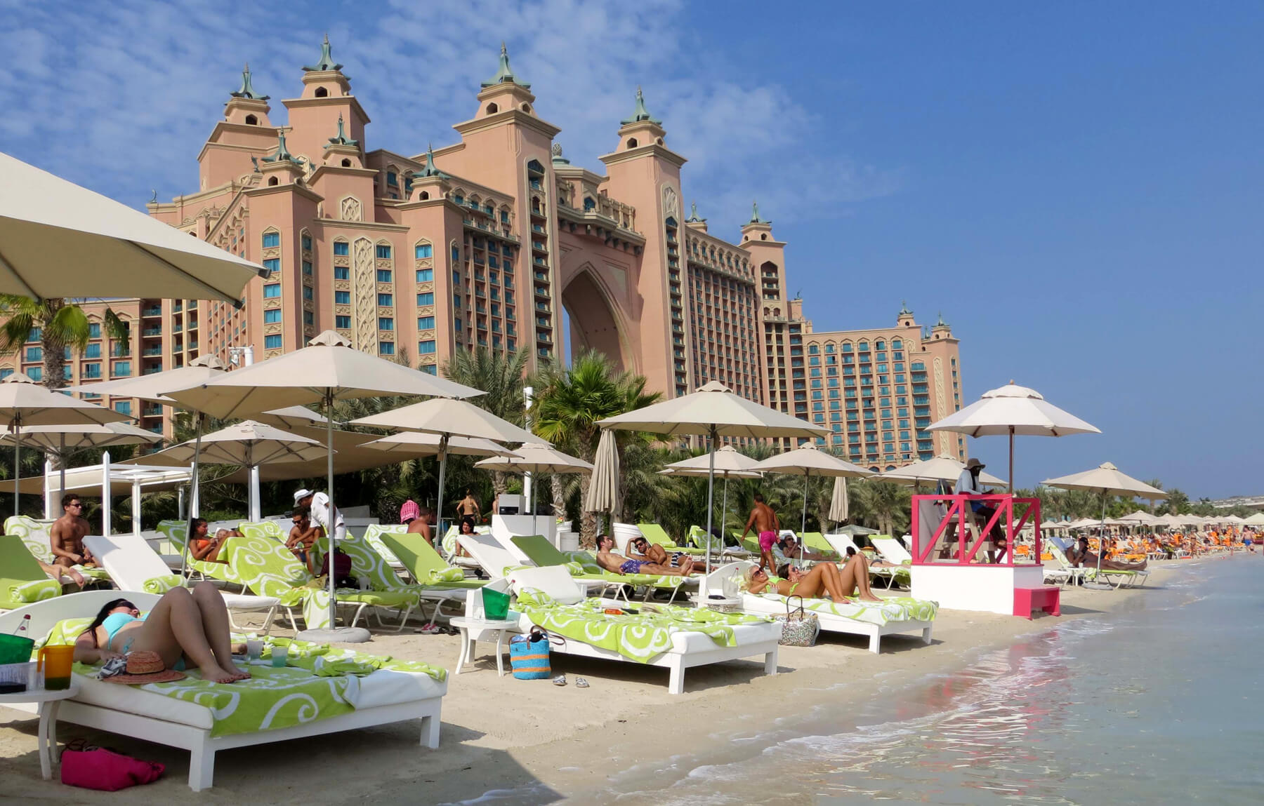 Частный пляж Hotel Atlantis The Palm