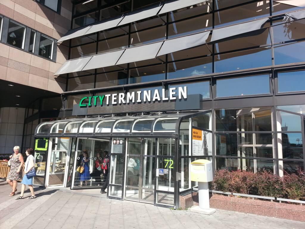 Автобусом от Cityterminalen